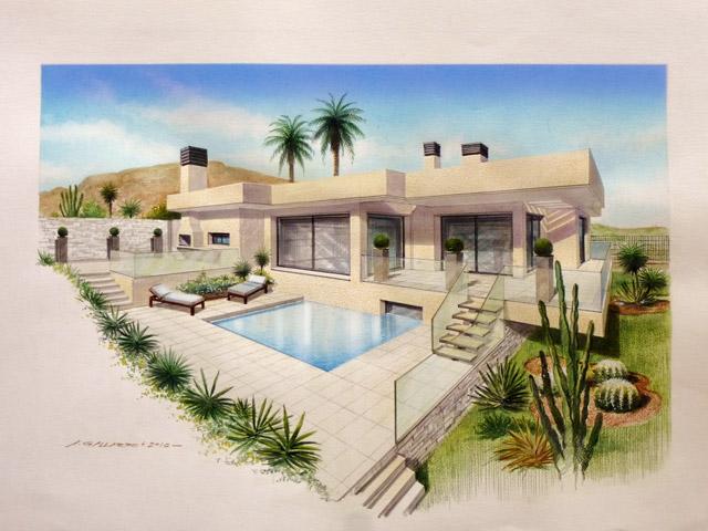 Luxury Villa with pool & unique sea view in Corralejo
