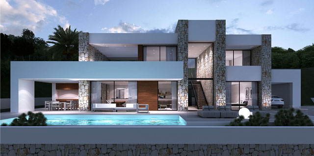 prefabricated villa with pool