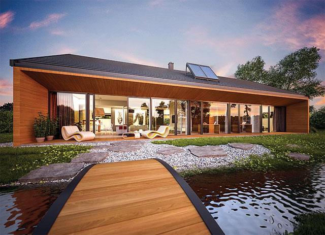 Fertig Bauhaus Villa Family Star   !Die perfekte Symbiose aus Luxus und Natur!
