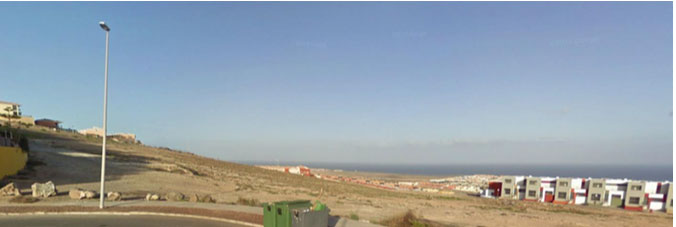 We sell an urban plot overlooking the sea and the golf courses in Caleta de Fustes, Fuerteventura