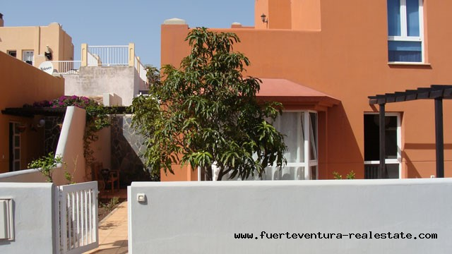 For sale! Terraced house in the complex Mirador de las Dunas in Corralejo on Fuerteventura!