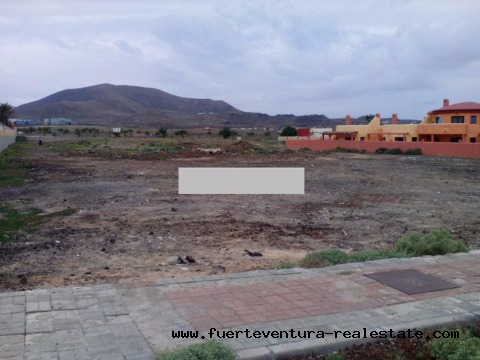 For sale! 3000 sqm building plot with seaview at Corralejo, Fuerteventura