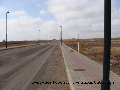 For sale! Residential plot with seaview at Corralejo, Fuerteventura