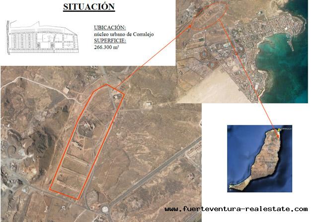 Im Verkauf!  Urbanes Bauland in Corralejo mit Meerblick auf Fuerteventura