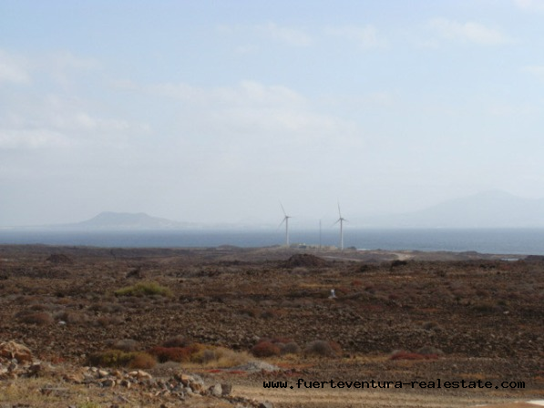 For sale! Urban plot in Corralejo with ocean view on Fuerteventura