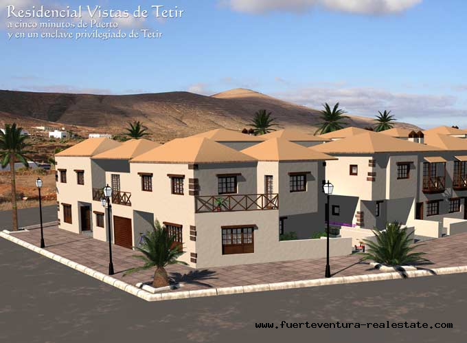 For sale!  Duplex house at the village Tetir, Fuerteventura