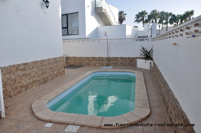 For sale! Nice house with pool in popular location of Corralejo on Fuerteventura