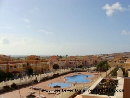 A beautiful 4 bedroom apartment is on sales on the golf course of Caleta de Fustes Fuerteventura