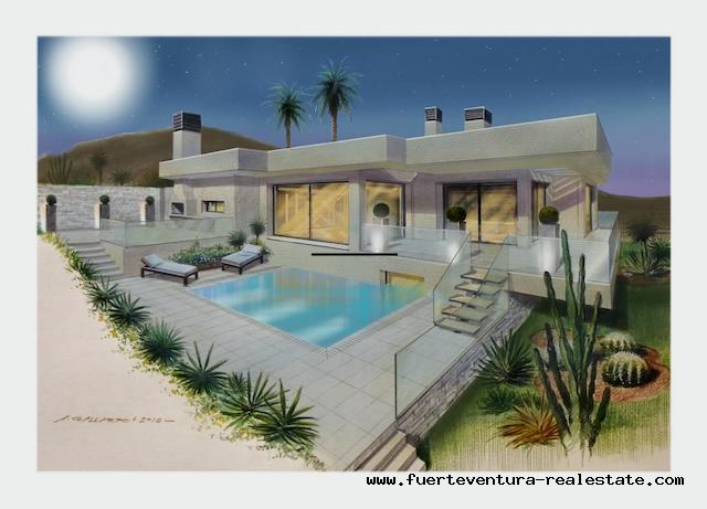 Ville di design moderno con viste uniche a Corralejo Fuerteventura