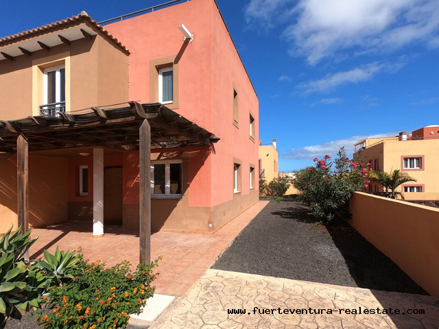 For sale! Terraced Villa in Mirador de las Dunas in Corralejo Fuerteventura