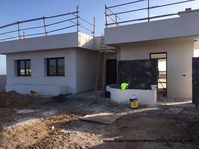 Moderne Villa avec terrain et vue imprenable sur la mer à Corralejo Fuerteventura
