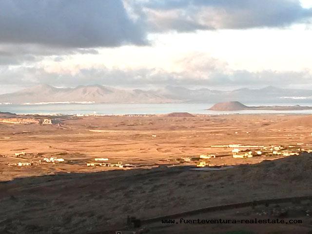 Hübsches kleines Landhaus mit Panorama Ausblick nach El Cotillo, Corralejo, Los Lobos  und Lanzarote