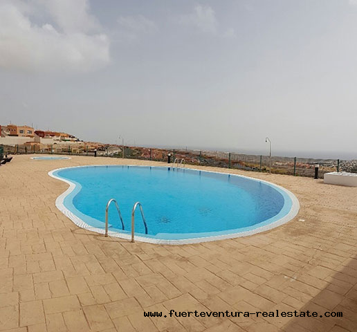 Nice townhouse with panoramic sea views in Caleta de Fustes Fuerteventura