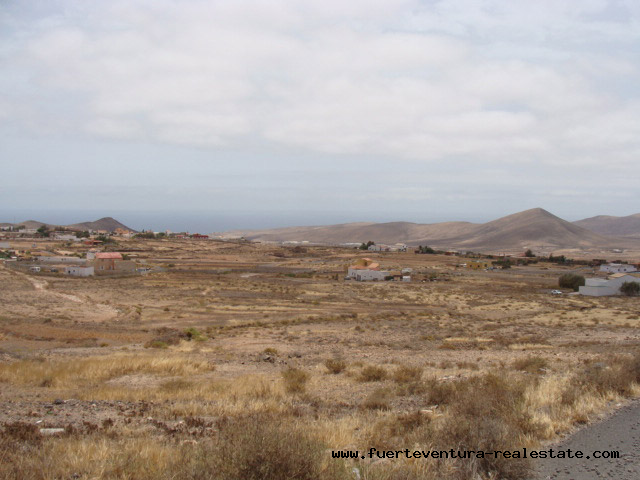 Urban plot with sea views for sale in La Asomada Fuerteventura