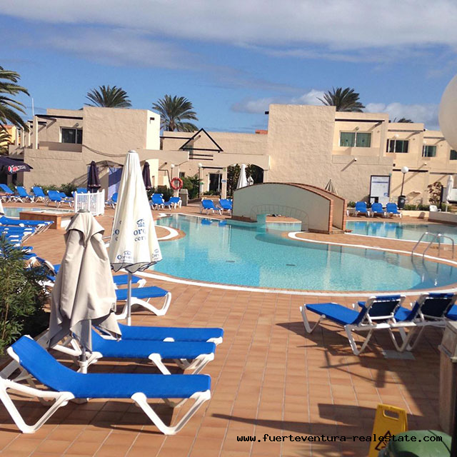 For sale! Cozy apartment in the residential complex Los Alisios in Corralejo