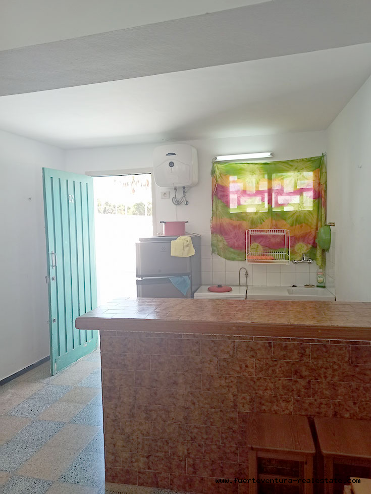 For sale! Apartment in Hoplaco, residential complex in the center of Corralejo with sea views.