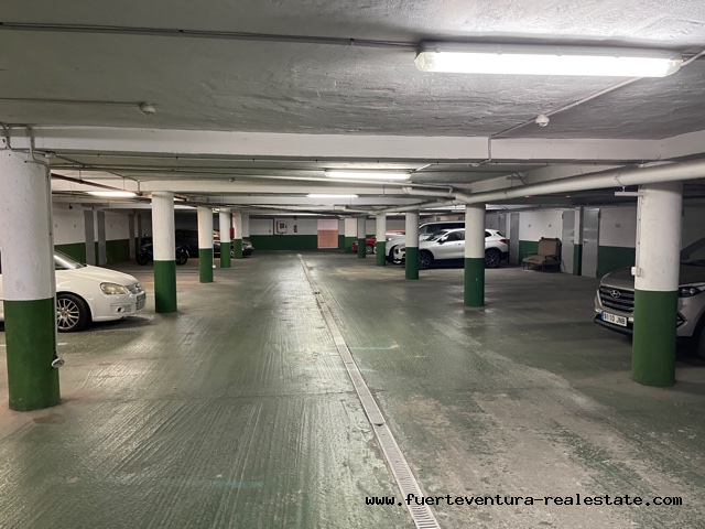 We rent a garage space for a car in Puerto Lajas Fuerteventura