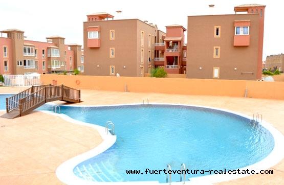 Te koop! Appartementen met 3 slaapkamers en tuin in Corralejo op Fuerteventura