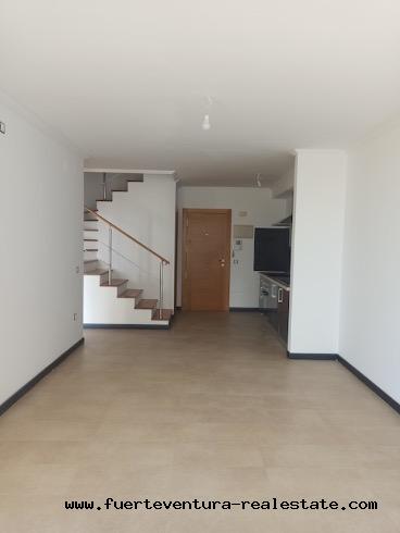 New construction duplex apartment for sale in El Cotillo